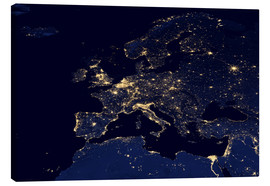 Canvas  Europe at night - Nasa