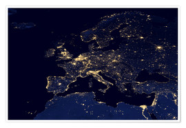 Premium poster  Europe at night - NASA