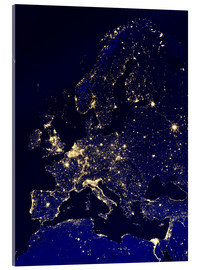 Acrylic print  Europe at night - NASA