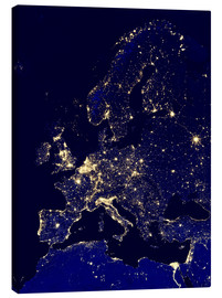 Canvas print  Europe at night - NASA
