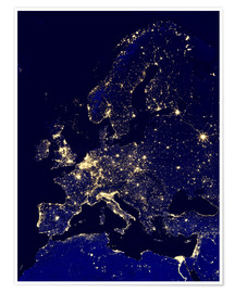 Nasa - Europe at night