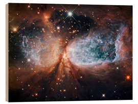 Wood print  Nebula Sh 2-106 - NASA