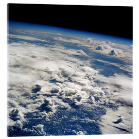 Acrylic glass  Thunderstorms, space shuttle image - Nasa