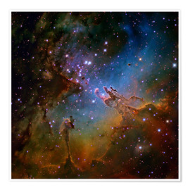 Premium poster  Eagle Nebula, optical image - Robert Gendler