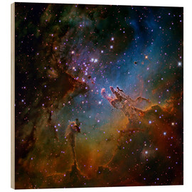Wood print  Eagle Nebula, optical image - Robert Gendler