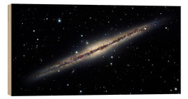 Wood print  Spiral galaxy NGC 891, optical image - Robert Gendler