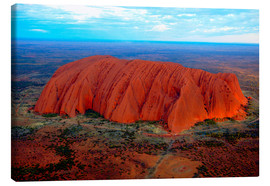Canvas print  Uluru (Ayers Rock) at sunset - I. Schulz