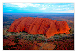 Premium poster  Uluru (Ayers Rock) at sunset - I. Schulz