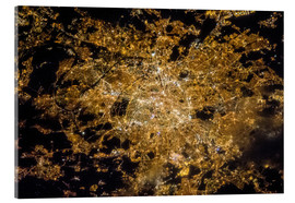 Acrylic print  Paris by night from above - NASA