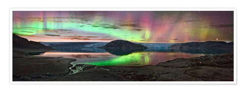Premium poster Auroral display, Greenland