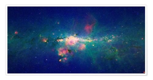 Premium poster Milky Way (infrared image)
