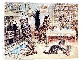 Acrylic print  The Picture Book of Kittens 13 - Louis Wain