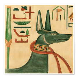 Premium poster  The Tomb of Siptah, Anubis - Ernest Harold Jones