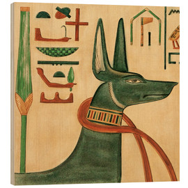 Wood print  The Tomb of Siptah, Anubis - Ernest Harold Jones
