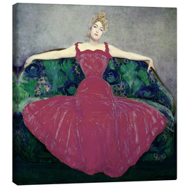Canvas print  Lady in fuchsia dress - Maximilian Kurzweil