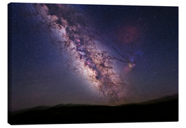 Canvas print  Milky Way over California, USA - Tony & Daphne Hallas
