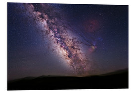 Foam board print  Milky Way over California, USA - Tony & Daphne Hallas