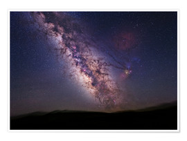 Premium poster Milky Way over California, USA