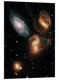 Aluminium print  Stephan's Quintet galaxies, HST image - NASA