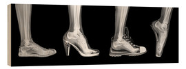 Wood print  Various shoes (radiograph) - PhotoStock-Israel