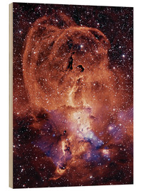 Wood print  NGC 3576 nebula - NASA