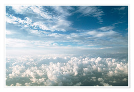 Premium poster View of stratocumulus clouds over cumulus clouds