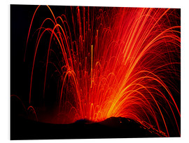 Foam board print  Volcanic eruption - Juerg Alean