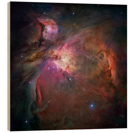 Wood print  Orion nebula (M42 and M43) - Nasa