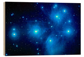 Wood print  Pleiades star cluster (M45) - Nasa