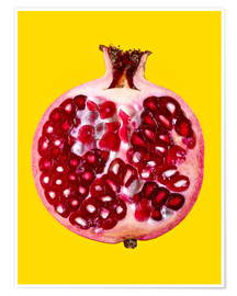 Premium poster Halved pomegranate