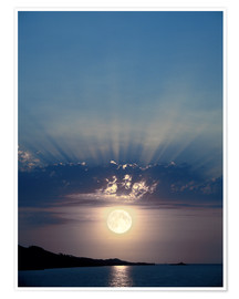 Premium poster Full moon rising