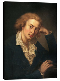 Canvas  Friedrich Schiller - Anton Graff