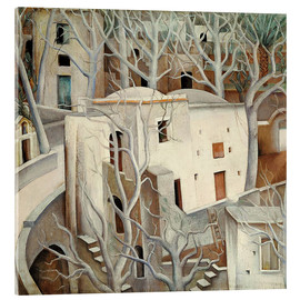 Acrylic glass  White trees - Anita Ree