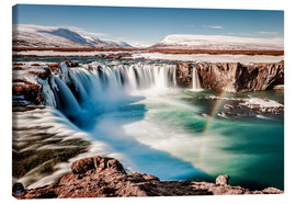 Canvas  winter wonderland Iceland: Godafoss - Sascha Kilmer