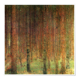 Premium poster Pine forest II