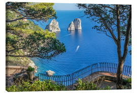 Canvas print  Faraglioni rocks at Capri (Italy) - Christian Müringer