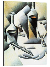 Aluminium print  Still Life with bottles and knives - Juan Gris