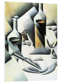 Juan Gris - Still Life with bottles and knives