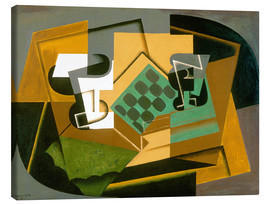 Canvas  Chessboard, Glass, and Dish - Juan Gris