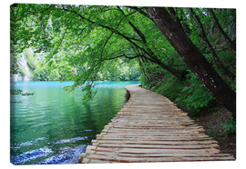 Canvas print  Plitvice Lakes National Park Boardwalk - Renate Knapp
