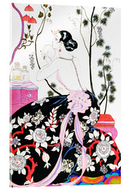 Acrylic print  The Backless Dress - Georges Barbier