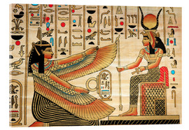 Acrylic print  Papyrus with Egyptian characters