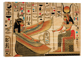 Wood  Papyrus with Egyptian characters