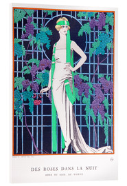 Acrylic glass  Roses in the Night - Georges Barbier