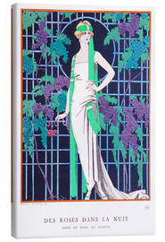Canvas print  Roses in the Night - Georges Barbier
