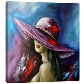 Canvas print  Lady with Hat - Theheartofart Gena
