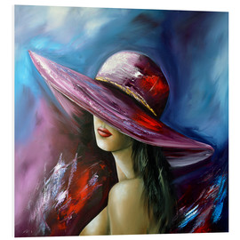 Foam board print  Lady with Hat - Theheartofart Gena