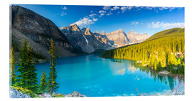 Acrylic print  Moraine Lake at the morning panorama - rclassen