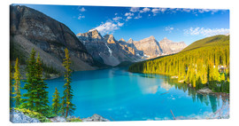 Canvas  Moraine Lake at the morning panorama - rclassen