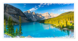 Premium poster  Moraine Lake at the morning panorama - rclassen